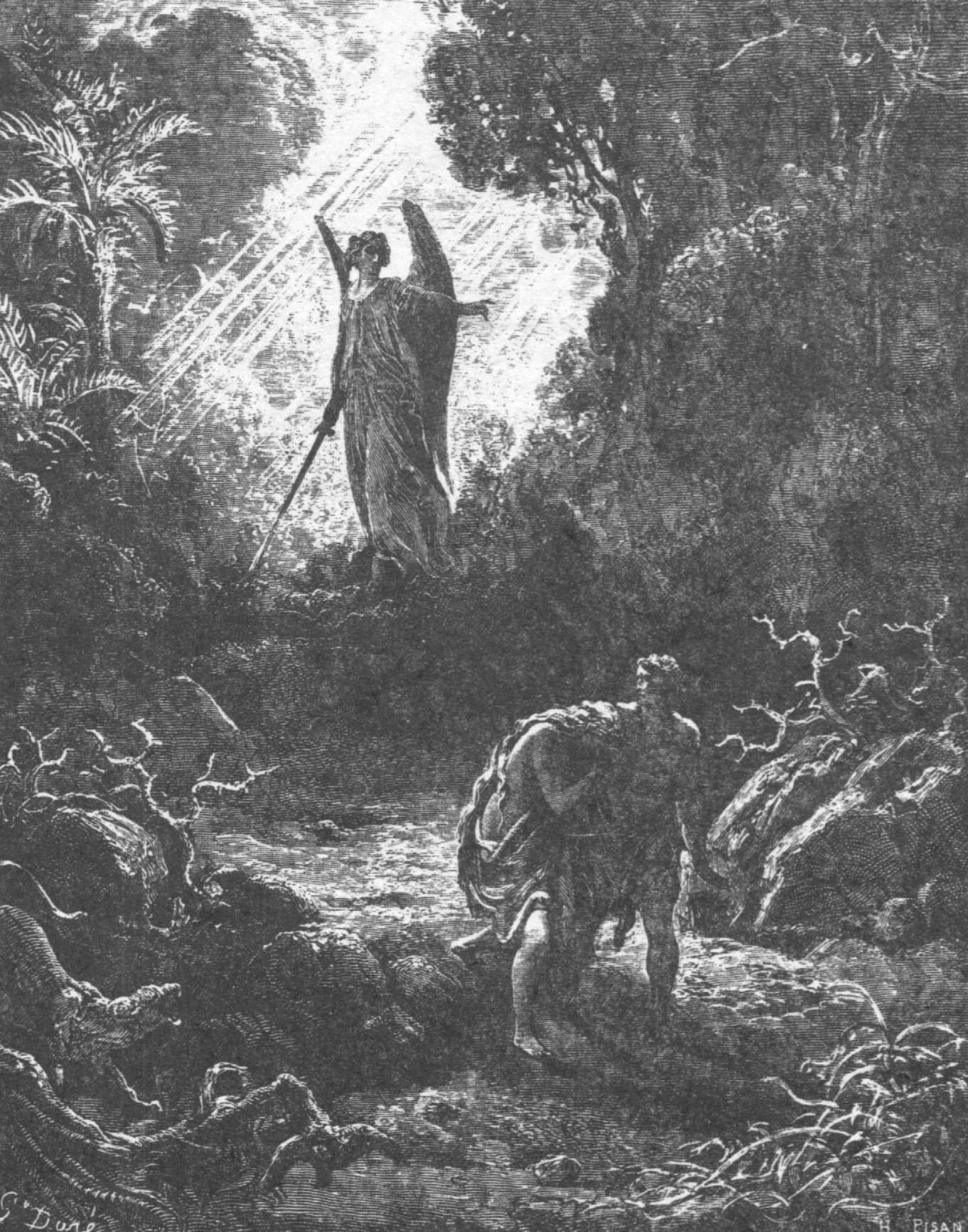 Ангел изгоняет Адама и Еву